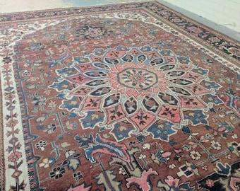 """8'8"""" x 11'10"""" - TORANJ - Persian Antique Heriz"""