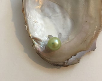 Lime Green Pearl (With A Few Dark Spots)