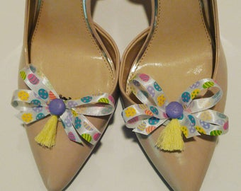 Colorful Easter eggs shoe bow shoe clips shoe accessory