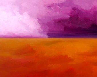 Unknown horizon n4  Modern abstract oil painting Hand Painted