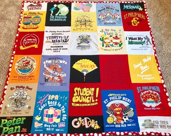 Custom T-Shirt Quilt/Blanket