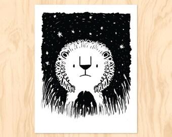 LION de minuit: Printable Art, Art de la chambre de bébé, Art mural, les enfants Téléchargement instantané, Art mural