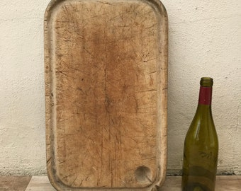 ANTIQUE VINTAGE FRENCH bread or chopping cutting board wood 0706187