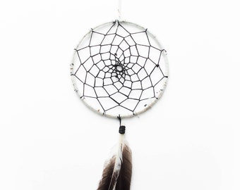 Black & White Traditional Dreamcatcher