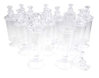 Clear Plastic Candy Tube Party Favor Container, 5-1/4-Inch x 1-1/2-Inch, 12-Count
