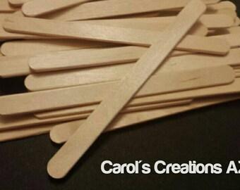 50 Craft Sticks / Wood Craft Sticks / Popsicle Sticks / Craft Supplies