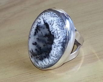 Dendritic Opal Ring Size #7