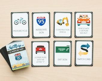 Roadtrip Scavenger Hunt Deck of Cards