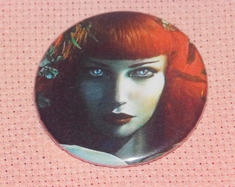 CLEARANCE, Seconds stock, Red Head Needle Minder, Licensed, Cross Stitch Keeper, Omri Koresh  Fridge Magnet, Button Magnet, Pin Holder