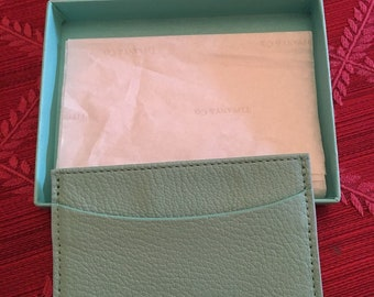 NEW, NEVER USED!!! Tiffany & Co. Blue Leather Card Case