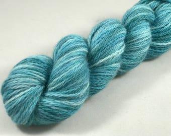 """Hand Dyed Sport Yarn, 100% American Alpaca, 200 Yards, 50g """"Blue Spruce"""""""