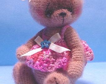 Miniature Crochet THREAD ARTIST  Bear  Pattern Patti by Joanne Noel of  Bayou Bears  by Joanne Noel of  Bayou Bears
