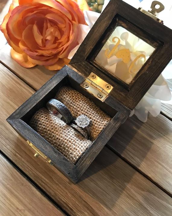 Wedding ring box-window box-wedding band box ring box