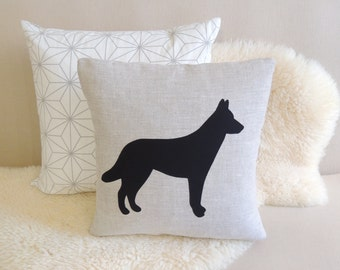 Dutch Shepherd Appliqué Pillow Cover