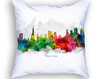 New York Pillow, 18x18, New York Skyline, New York Cityscape, New York Decor,  Cushion Home Decor, Gift Idea, Pillow Case 12