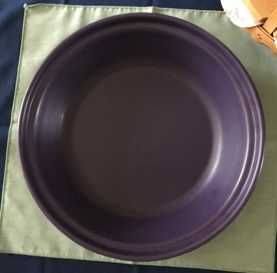 Chantal Pie Pan Dish Purple 11  Large Deep Dish Pie Plate Eggplant Stoneware from SuzysChinaClassics on Etsy Studio & Chantal Pie Pan Dish Purple 11