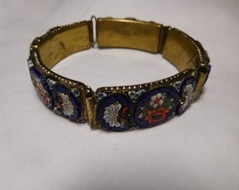Vintage Hand-crafted Italian Mosaic Bracelet