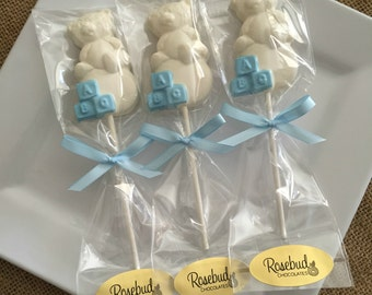 Baby Shower Favors Chocolate Candy Party Teddy Bear Blocks Lollipops Dessert Table Kids Birthday