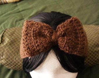 Brown Earwarmer/ Crochet Headband