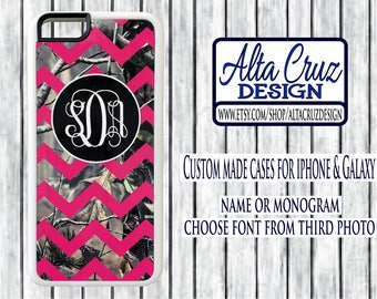 Personalized Chevron Camouflage cell phone case, iPhone or Galaxy, name or monogram #119