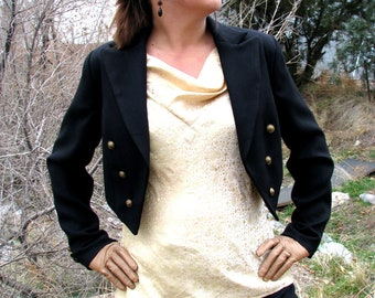 Women's Cropped Tuxedo Jackets---Custom Cut and Made-To-Measure