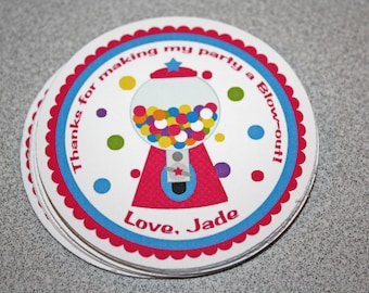 Candy Favor Tags / Gumball Favor Tags / Candy Shoppe Favor Tags / Sweet Shoppe Favor Tags / Gumball Birthday Party / Candy Party /Set of 12