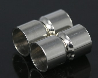 "Magnetic clasp leather cord 5 pcs 18 x 11 mm 0.7"" x 0.43"" nickel plated brass solid brass 9.5 mm 0.37"" MCL10 1178N"