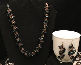 Item#Item # 42 Sees Bead Necklace and Earring Set
