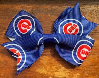 Chicago Cubs Hair Bow