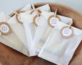 Glassine Bags set of 50  3 1/4  x 4 5/8 ||  Wedding Favor Bags, Treat Bags, Business Card Envelopes, Chocolate Bags