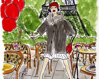 Red Balloon Model in Paris