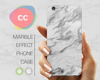 White Marble - iPhone 8 Case - iPhone 7 Case - iPhone X, iPhone 8 Plus, 7, 6, 6S, 5S, SE Cases - Samsung S8, S7, S6 Cases - PC-359