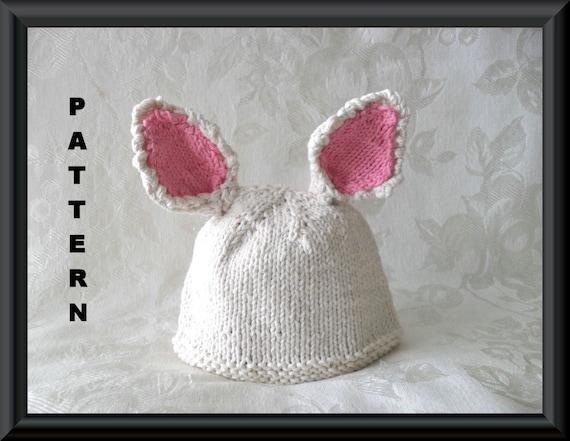 Knitting Pattern Rabbit Hat : Knitted hat pattern baby newborn