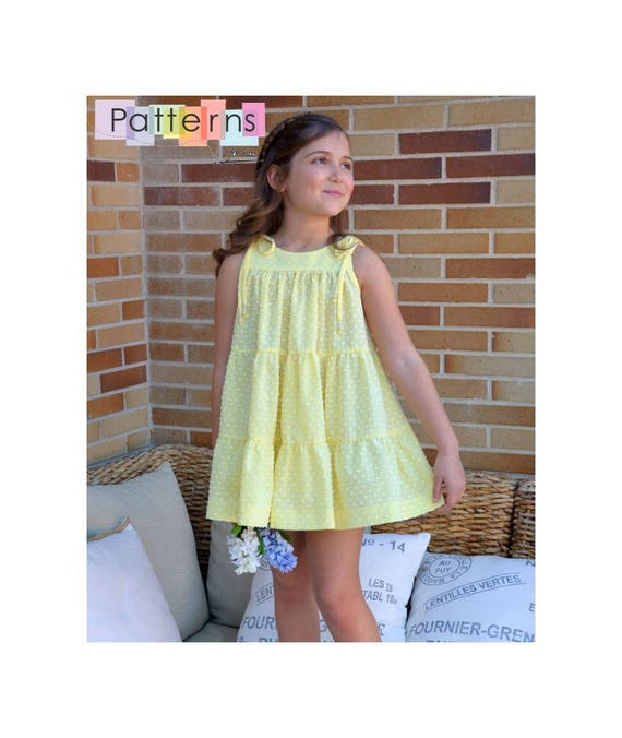 Summer DRESS with 3 ruffles for baby babies toddler girls PDF Sewing ...