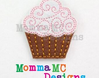 Cupcake Felt Feltie Embroidery Design