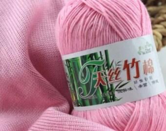100% Bamboo Cotton Warm Soft Natural  Baby Yarn Crochet Knitting Knitwear 50 Grams Skein