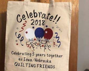 Celebrate! 2018 Light weight canvas tote