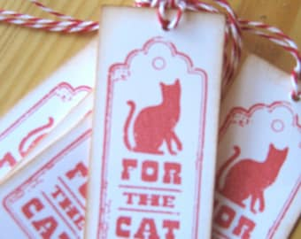 For The Cat Christmas Gift Tags