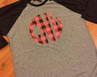 Christmas shirt // Christmas plaid shirt // Holiday shirt // Monogram shirt // Monogram Christmas Shirt // Christmas gift idea