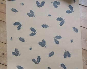 Oak and Acorn Wrapping Paper