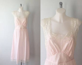 Vintage Godfried Original Pink Nightgown, Cotton Nightgown, 1970s Nightgown, Vintage Nightgown, Romantic,  Godfried,