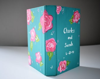 Custom Painted Book Cover for your folded book art