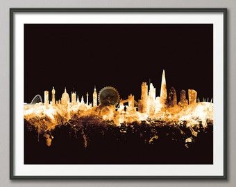 London Skyline, London Cityscape England, Art Print (1649)