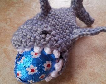 easter egg cozy, 2 egg cozies, easter egg cover, egg holder, shark cozy, shark egg cozies, shark easter egg cozy, crochet shark cozy