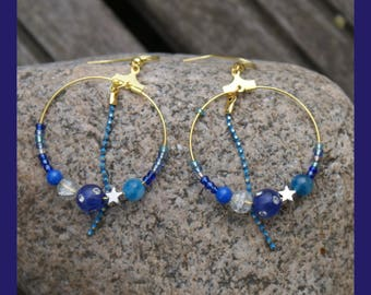 """creole earrings"" ocean """
