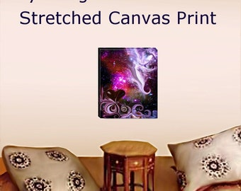 Stretched Canvas Print Reiki Wall Decor Meditation Room Energy Art 11 x 14