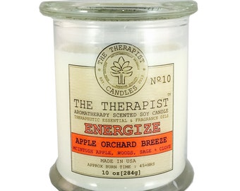 Scented Soy Candle < No. 010 Apple Orchard Breeze>- Hand Poured - Highly Fragrant - 10 oz