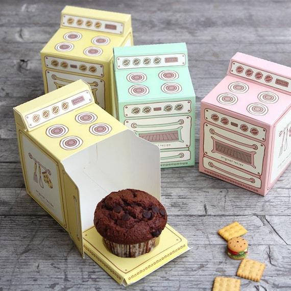 Retro Oven Cupcake Box