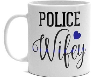 Police Wifey Mug - Thin Blue Line Mug