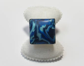 """Ring """"PC Blue Marbled 2"""""""